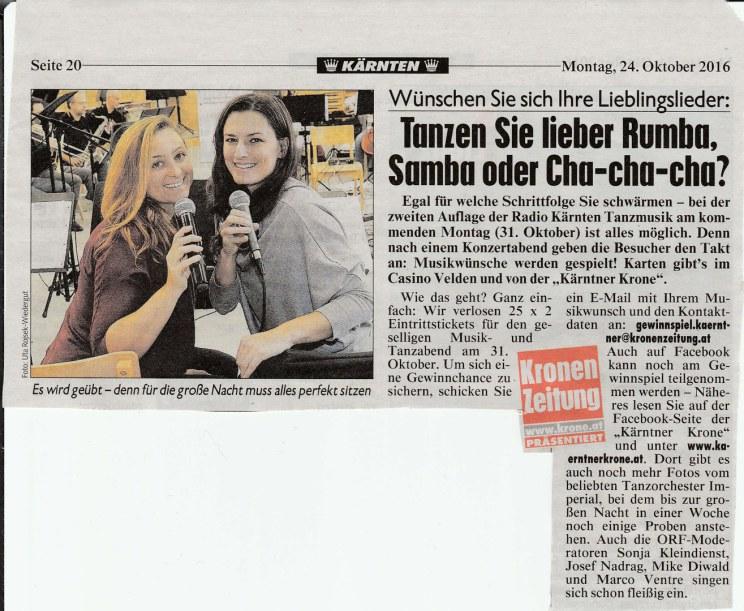 """""""Radio Kärnten Tanzmusik (Oktober 2016)"""