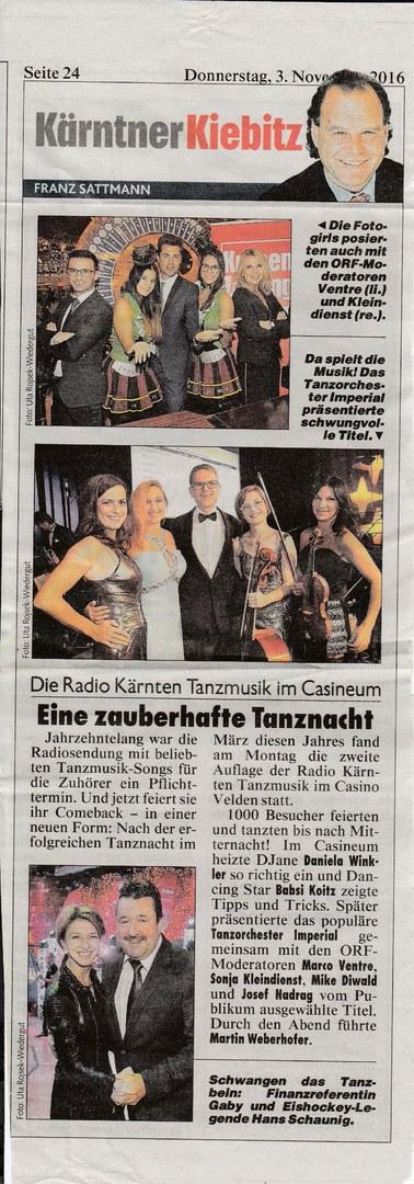 Radio Kärnten Tanzmusik (Oktober 2016)